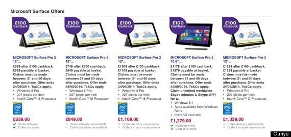 Surface Pro 3 Sold Out Across UK