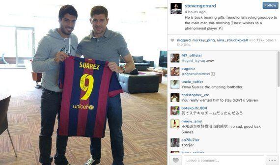 Luis Suárez Bids Goodbye To Liverpool