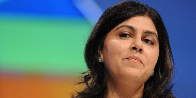 Conservative Party co-chairman Baroness Warsi, opens the first session of the Conservative Party Conference...