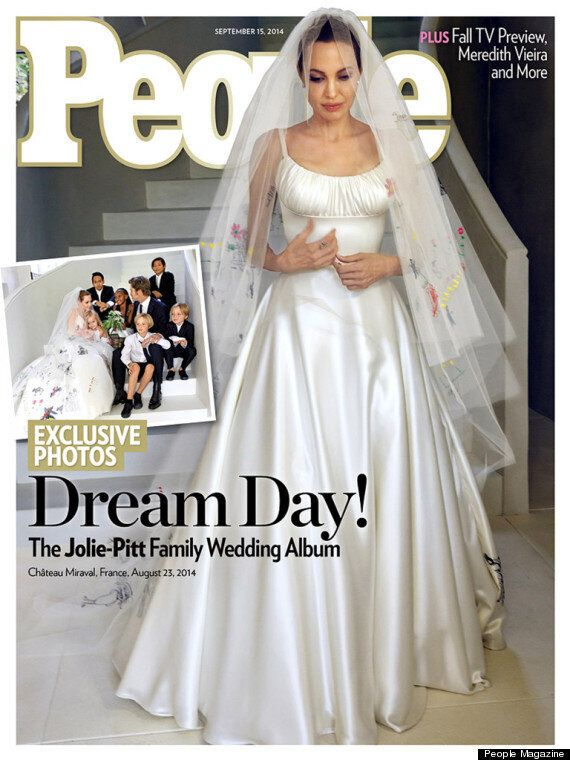 Angelina Jolie And Brad Pitt Wedding Photos: Couple Give Fans First Look At Angelina's Dress In Secret...