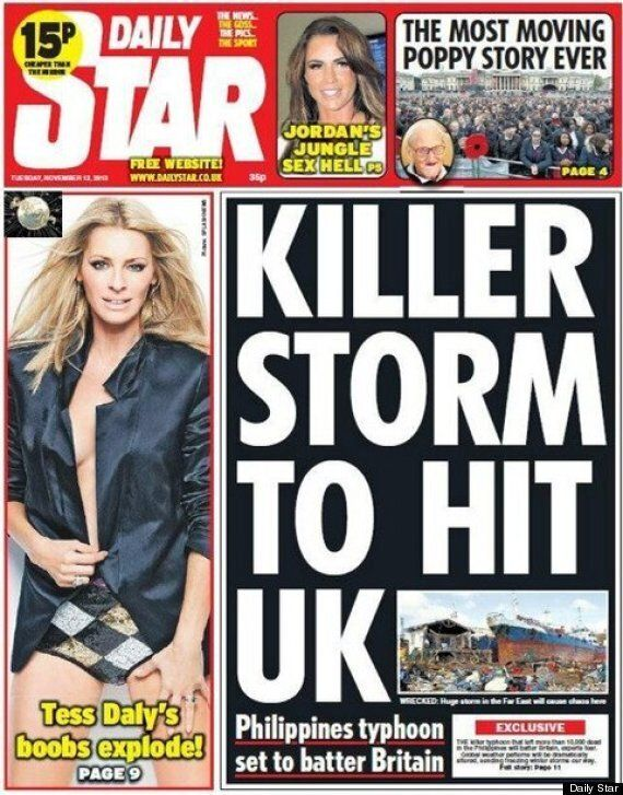 Super Typhoon Haiyan To Destroy Our Christmas, According Daily Star Front
