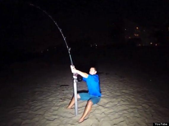 College Students Catch 14Ft Hammerhead Shark In