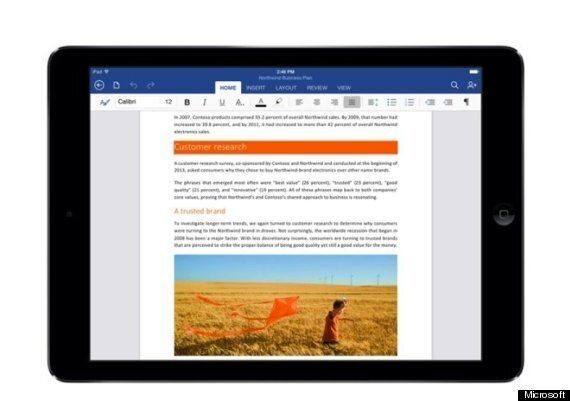 Office For iPad: Microsft Unveils Word, Excel And Powerpoint For Apple