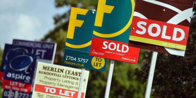 Embargoed to 0001 Thursday March 6 File photo dates 09/08/13 of Estate Agent's boards as the Government...
