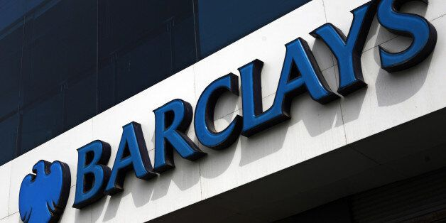 Signage for Barclays Plc is displayed outside a bank branch in Karachi, Pakistan, on Thursday, Aug. 15,...