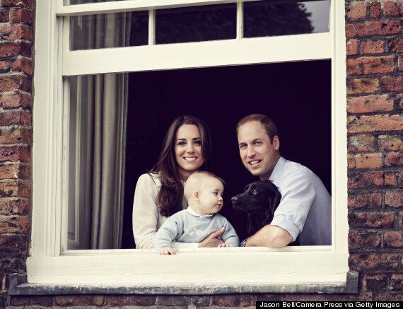 Royal Family Photo: Kate, William And George Pose At Kensington Palace, With Dog