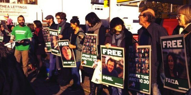 #Arctic30 Greenpeace Protests Held At Shell Petrol Stations Across The UK