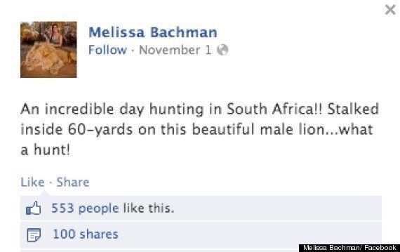 Hunter Melissa Bachman Sparks Fury After Posing With Dead Lion (GRAPHIC
