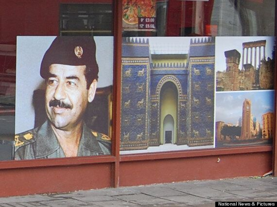 Lebanese Restaurant This Is It Displays Giant Saddam Hussein Poster As 'Political Protest'