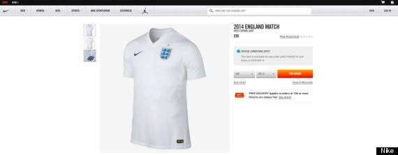 England's All-White Nike World Cup Kit Costs