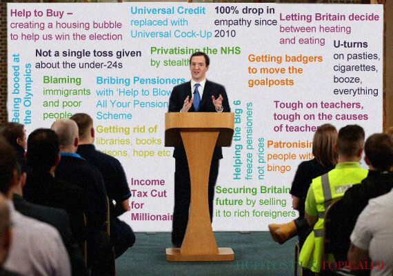 George Osborne's 'Full Employment' Speech - Check Out What Was Written On The Board Behind Him
