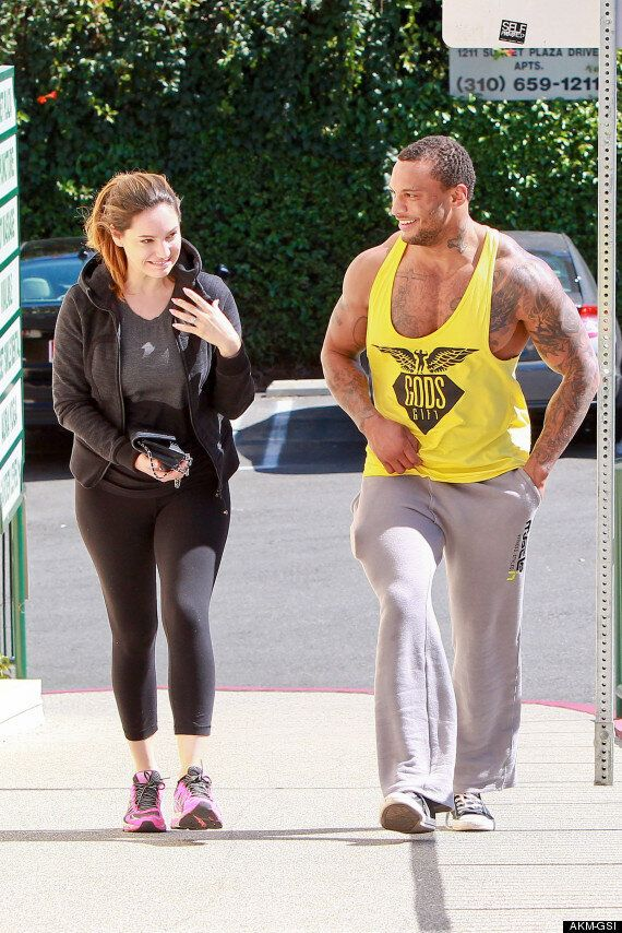 Kelly Brook Flashes Her Engagement Ring During Gym Visit With Fiancé David McIntosh