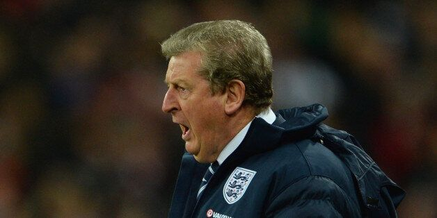 LONDON, ENGLAND - NOVEMBER 19: England manager Roy Hodgson reacts during the International Friendly match...