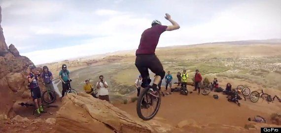 Unicycling Down A Mountain Is