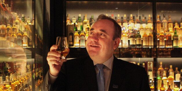 Scottish First Minister Alex Salmond takes a look round the new 3m tour of the Scotch Whisky Experience...