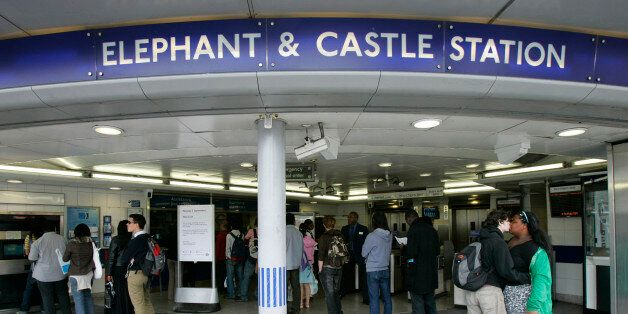 Passengers were trapped at the Elephant and Castle Underground station in London (file