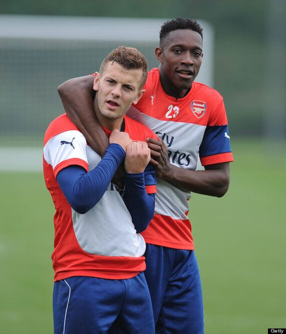 Danny Welbeck Trains With Arsenal