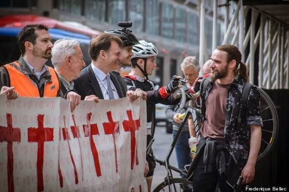 Cyclists Build 'Wall Of Death' In London As Message To Local