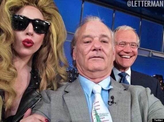 Lady Gaga, Bill Murray and David Letterman Continue Selfie Craze