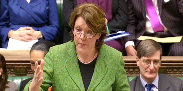 Culture Secretary Maria Miller speaks in the House of Commons during a debate on Gay marriage proposals...