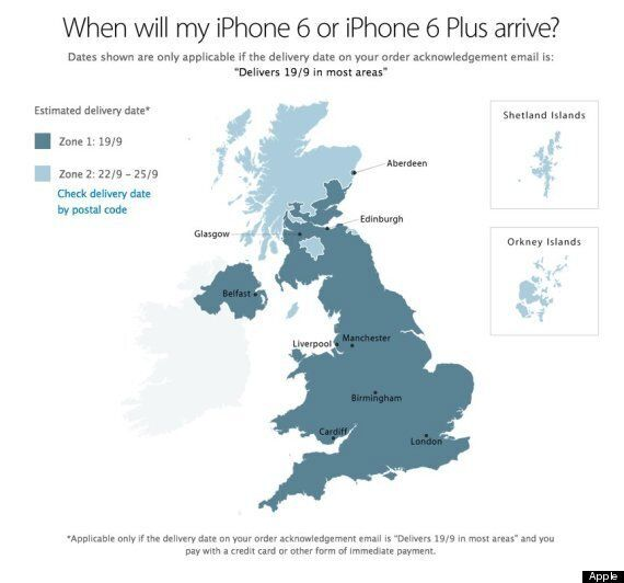 iPhone 6 Launch Day Deliveries Will Skip Most Of