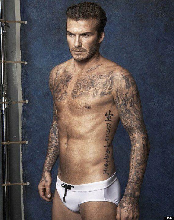 David Beckham Strips Off For New H&M 'Bodywear' Swimwear Campaign