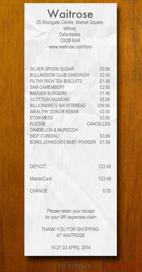 We Found David Cameron's Waitrose Receipt