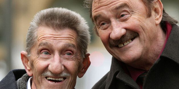 The Chuckle Brothers, Barry (left) and Paul Elliott, arrive at Southwark Crown Court in London, where...