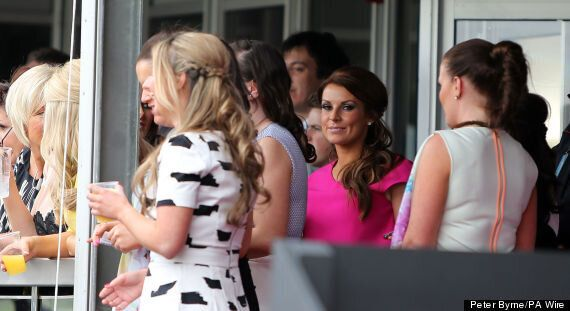 Coleen Rooney Is Pretty In Pink As She Celebrates Her Birthday With A Girls' Day Out At The Races