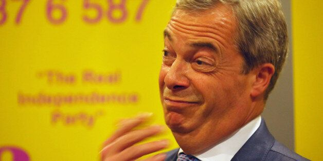 Ukip leader Nigel Farage attends a rally at the Corn Exchange, Edinburgh, where he boasted that he could...