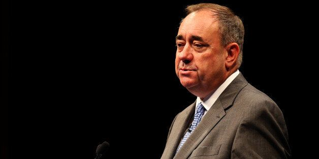 Scottish First Minister Alex Salmond addresses an audience of international journalists exactly 17 years...