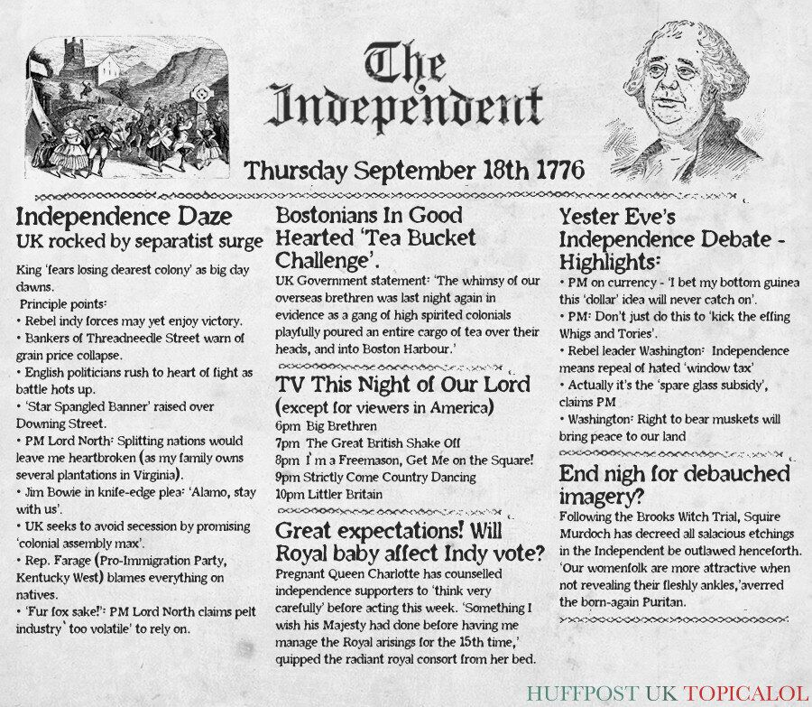 Scottish Independence: We've Been Here Before. Take A Look At This Newspaper From