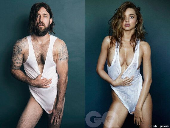 Miranda Kerr's GQ Shoot Recreated By A Man, And It's Weird And