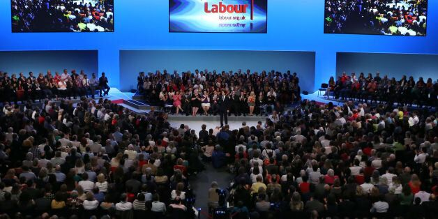 Labour leader Ed Miliband making his keynote speech to delegates during his Party's annual conference...