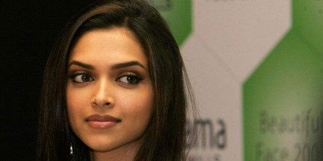 Bollywood actress Deepika Padukone looks on during the launch of Fiama Di Wills Beautiful Face 2008 Hunt, in Mumbai, India, Friday, Sept. 12, 2008. (AP Photo/Rajanish Kakade)