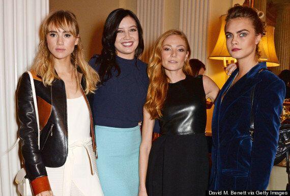 Cara Delevingne Wears Giant Velvet Blazer (And Not A Lot Else) To London Fashion Week