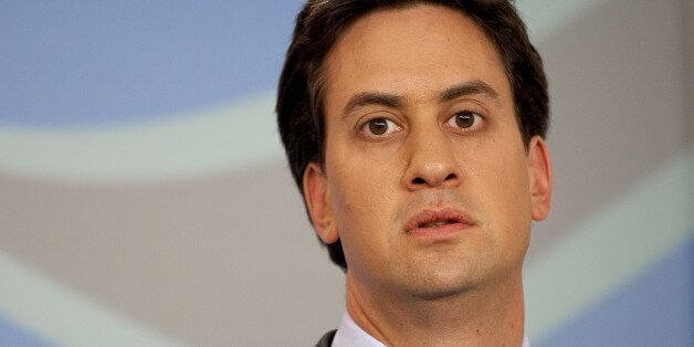 Labour Party Leader Ed Miliband Speaks At A Press Conference For The Launch Of Labour'S 5 Point Plan...