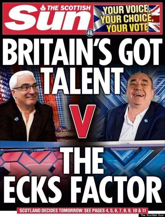 Scottish Sun 'Bottles It' On Referendum With 'Naffest Splash