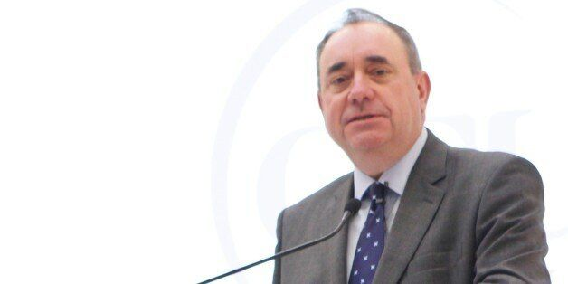 Alex Salmond delivering the inugural Caledonian lecture at the University's New York campus on