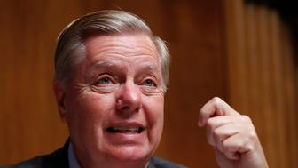 Chairman Sen. Lindsey Graham, R-SC., questions Acting Department of Homeland Security Secretary Kevin McAleenan at the Senate Judiciary Committee on Capitol Hill in Washington, Tuesday, June 11, 2019. (AP Photo/Pablo Martinez Monsivais)