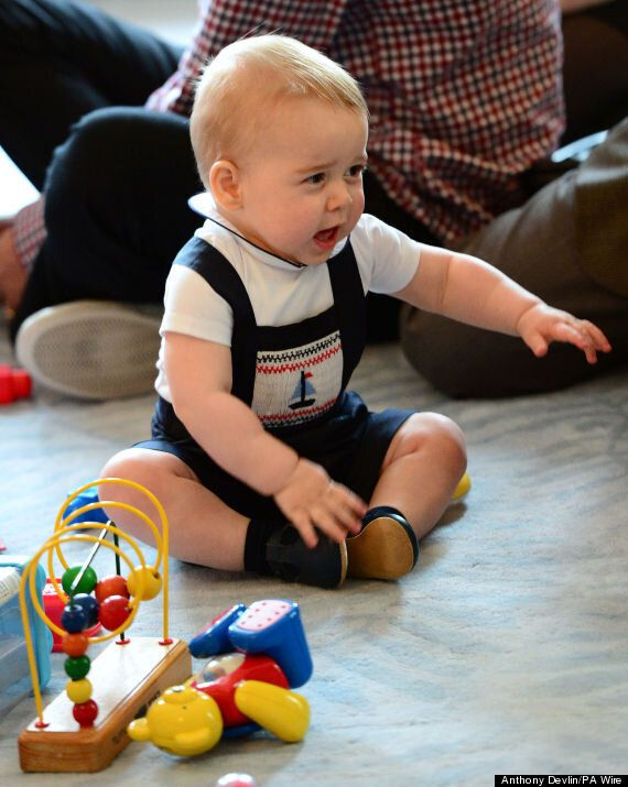 Prince George Steals Other Child's Toy At First Public Engagement (PICTURES,