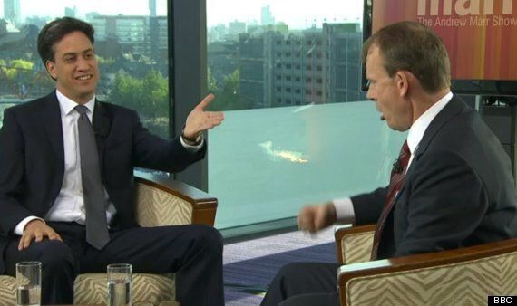 Ed Miliband Praises Andrew Marr's Bizarre Gordon Impression In Middle Of Interview