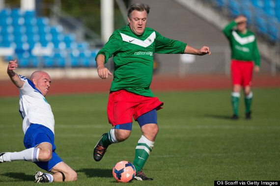 Ed Balls Leaves Journalist Bloodied And Bruised After Charity Football
