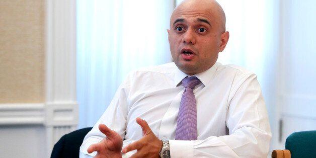 Sajid Javid, financial secretary to the U.K. treasury, speaks during an interview in London, U.K., on...