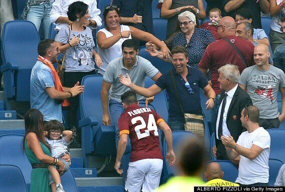 Alessandro Florenzi Booked For Celebrating Roma Goal With Gran