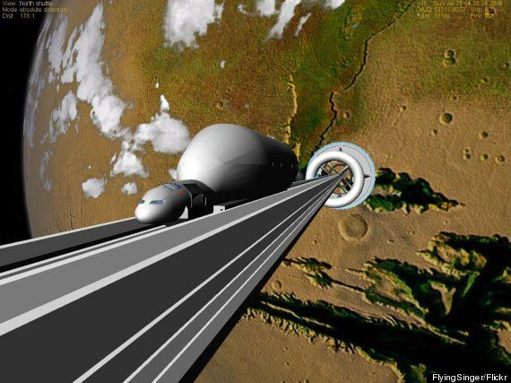 Working Space Elevator By