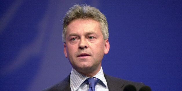 Alan Duncan speaking at the Conservative Party Conference in Blackpool Monday 8th October 2001. Conservative...