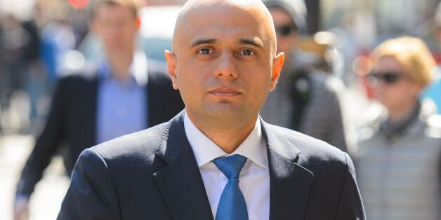 New Culture Secretary Sajid Javid arrives at the Department of Culture, Media and Sport, in Westminster,...