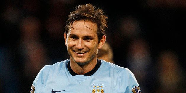 Manchester City's Frank Lampard celebrates scoring his 2nd goal against Sheffield