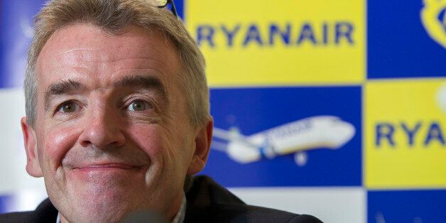 CEO of Irish budget airline Ryanair Michael O'Leary gives a press conference, on January 22, 2014 in...